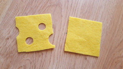 DIY Play Food - cheese slices, tutorial and pattern