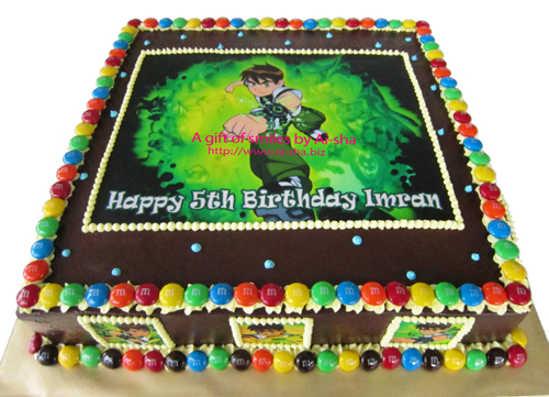 Birthday Cake Edible Image Ben 10