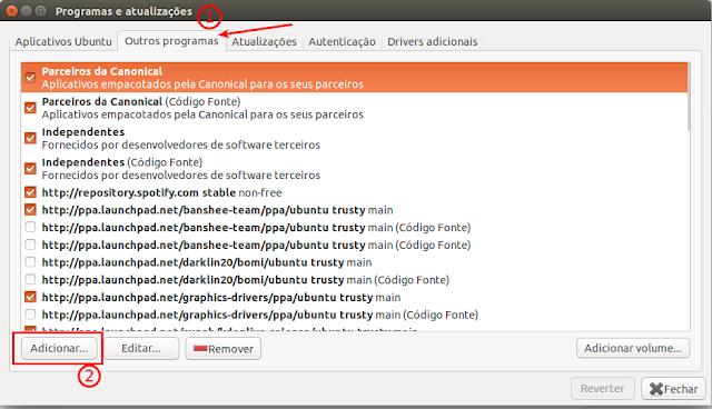 Adicionando repositório de drivers Ubuntu