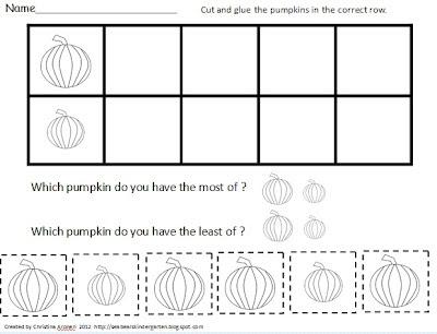 Number Names Worksheets kindergarten graph : Sea Bear's Kindergarten: Free Pumpkin Bar Graph Activity