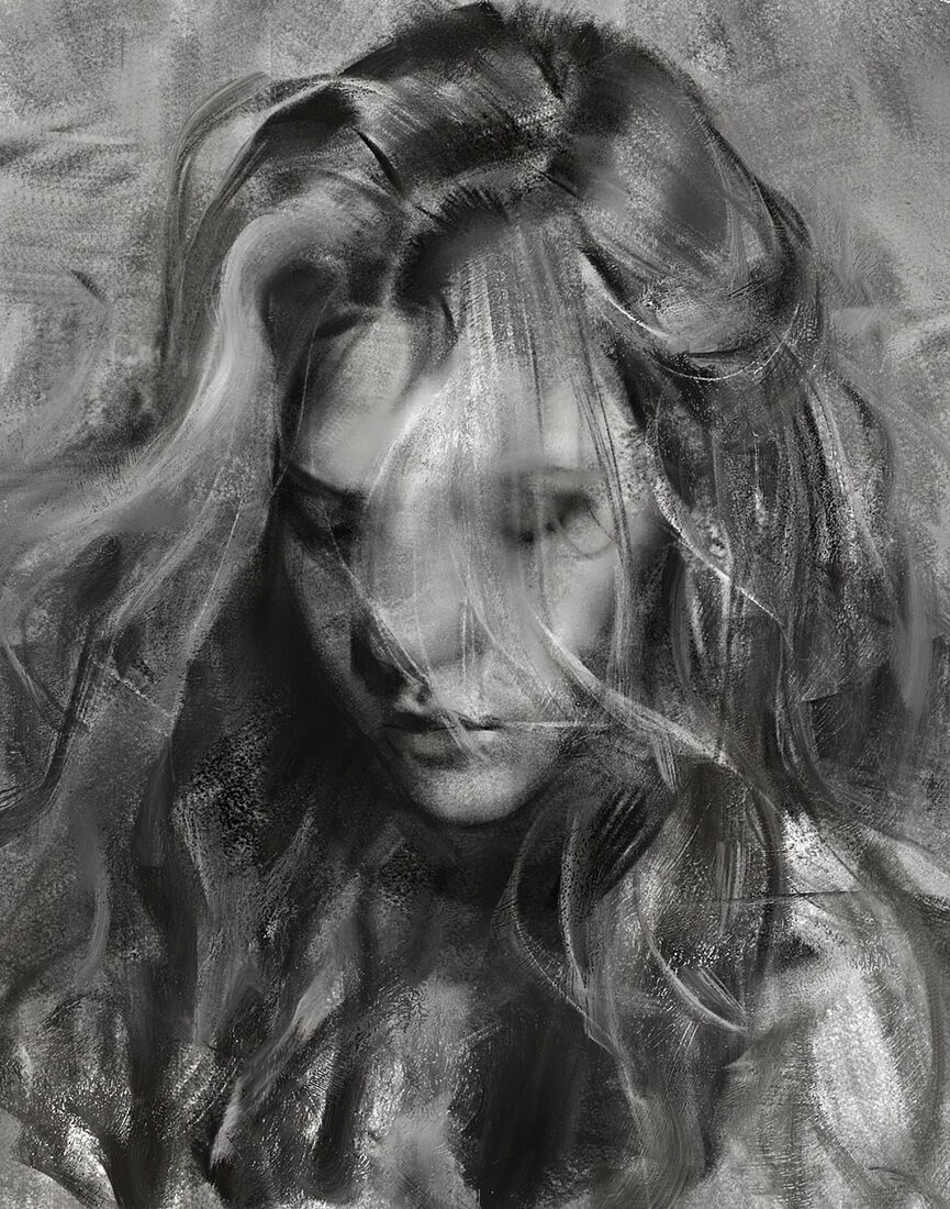04-Yizheng-Ke-Charcoal-Portrait-Drawing-in-Different-Poses-www-designstack-co