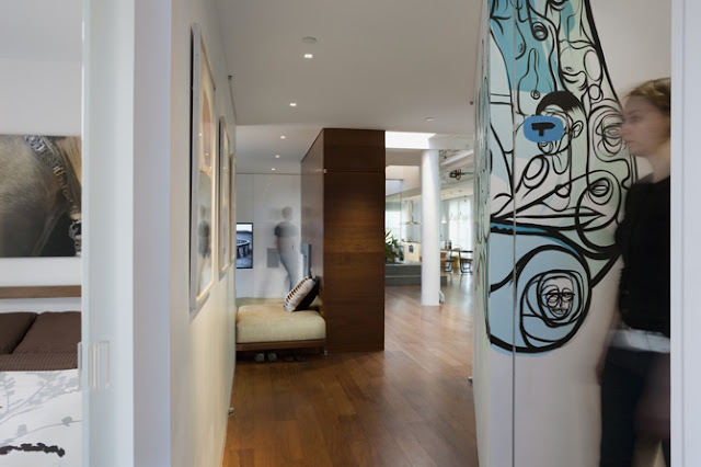 Photo of fresh design, amazing interior in the penthouse
