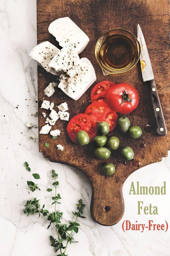 """Dairy-Free Almond Feta """"Cheese"""""""
