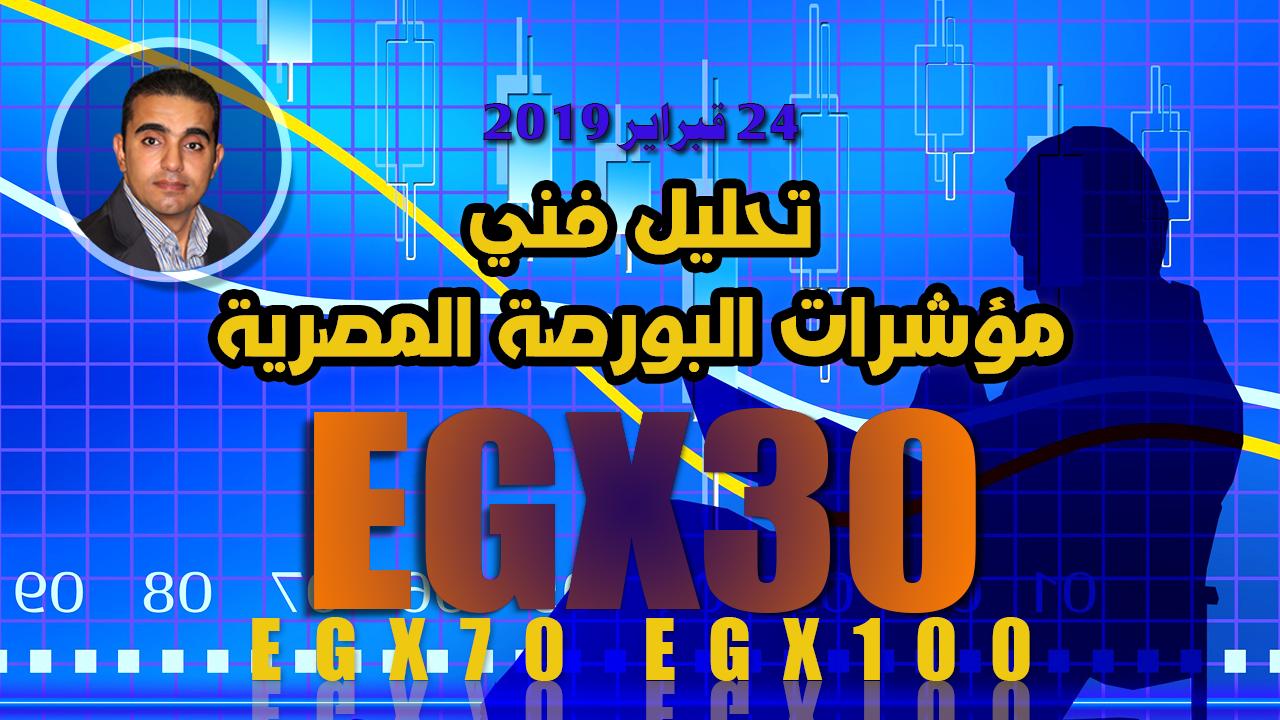 تحليل فني لمؤشرات البورصة المصرية بنهاية جلسة الأحد 24022019