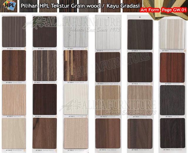 GW.01 HPL Art form motif tekstur Kayu gradasi