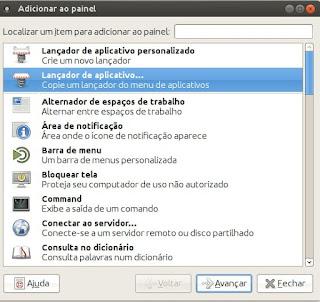 Adicionar os aplicativos no painel do Ubuntu