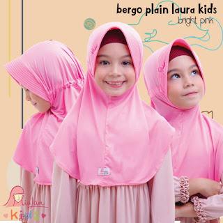 jilbab anak miulan bpl kids Bright Pink