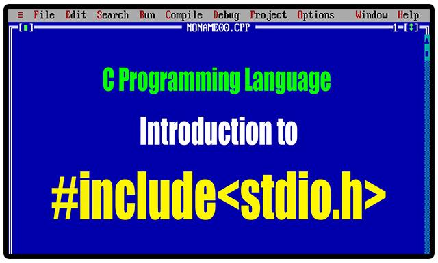 Header File <stdio h> - C Programming