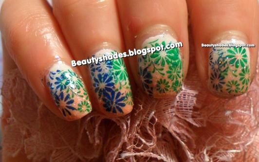 Stamping Flowers Nail Art