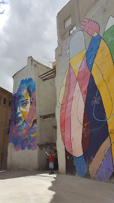 Very nice murals all over the city