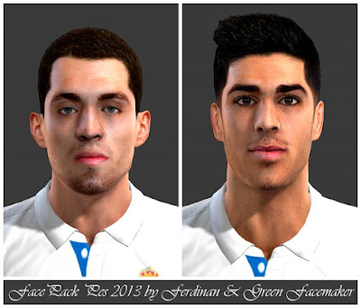 FacePack Pes 2013 by Facemaker Green & Facemaker Ferdinan Pes 2013