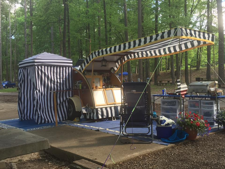 Courage To Change The Things Teardrop Camper Awning