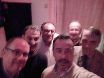 Adolfo Fradeja, Jorge Juan Bermejo, Kike Meana, Javier López, Narciso Serratosa y don Enrique