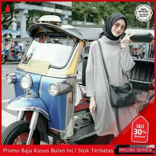 RRC083B67 Baju Wanita Tunik Cewe Arisya Grey Wanita BMGShop