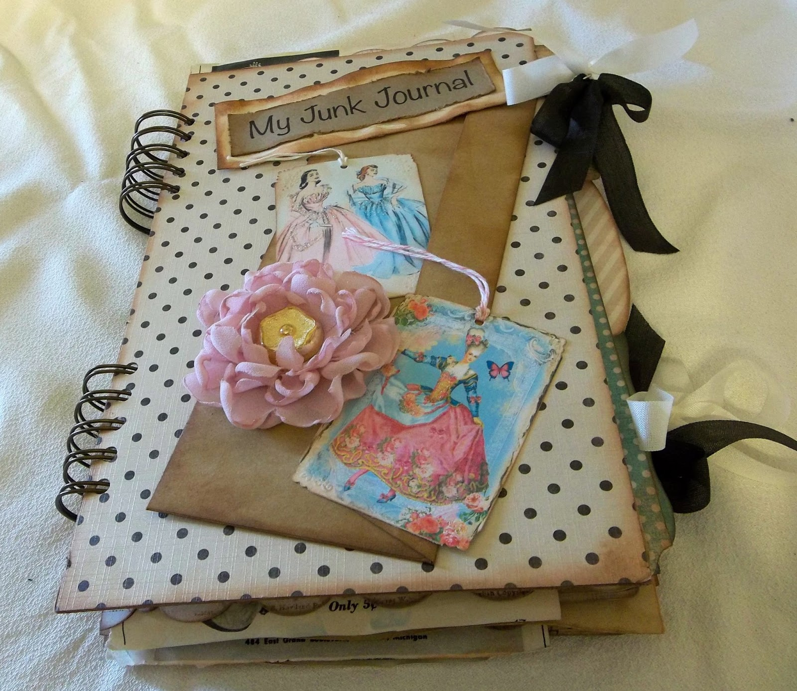 How To Make Covered Files: Creative Cafe': File Folder Junk Journal
