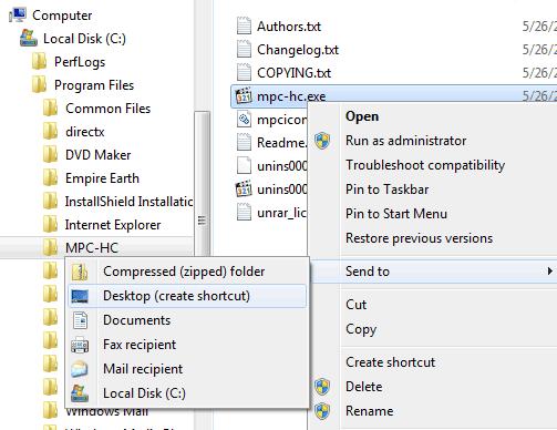 MPC-HC Shortcut