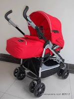 BABYELLE BS S-323 Polaris with Reversible Seat in Red
