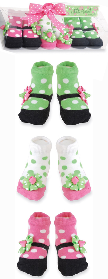 Mud Pie Mary Jane Socks (3-Pack) (Baby)
