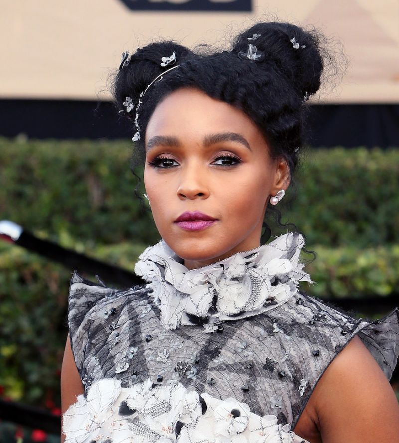Double Bun on Janelle Monae
