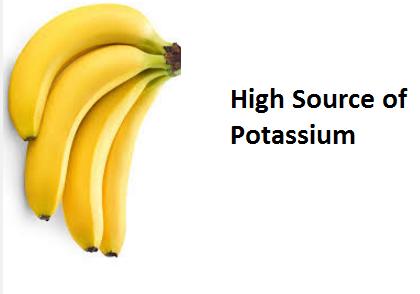 Health Benefits of Banana fruit - High Source of Potassium