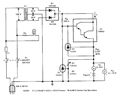 v charger circuit diagram