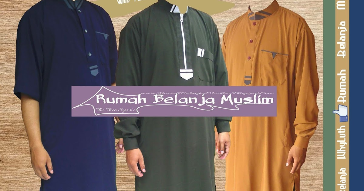 Gamis pria wolfis lembut Baju gamis pria arab
