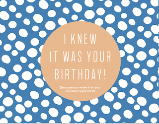If You Are Looking For Trendy SGL Themed And Did I Mention FREE Birthday Cards To Send Your Volunteers Have The Perfect Thing