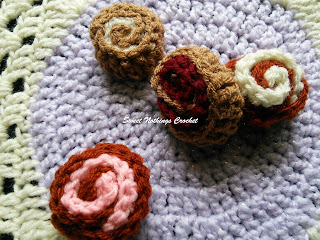 free crochet pattern, free crochet mitered granny square pattern, free crochet play food pattern, free crochet Swiss roll pattern, free crochet Swiss roll granny square pattern, crochet donation ideas, Project Chemo Crochet, Oswal Cashmilon, Pradhan Stores,