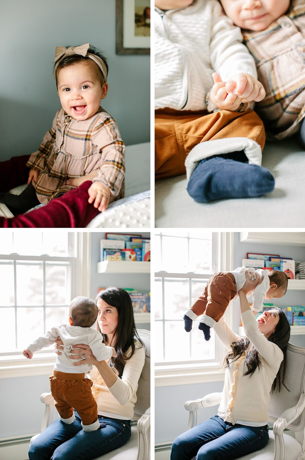 twin baby nursery session Mandy Mayberry Photography, In home family photography Boston Rhode Island Massachusetts