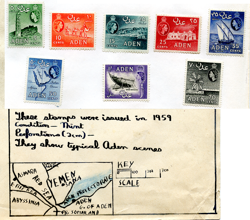 Aden postage stamps