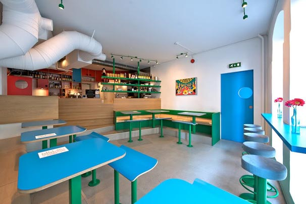 Small Restaurant Interior Design: In Design Magz: SMALL RESTAURANT CAFE DESIGN WITH BRIGHT