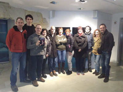 David Monedero con los alumnos del curso de escritura creativa de Carlos del Río