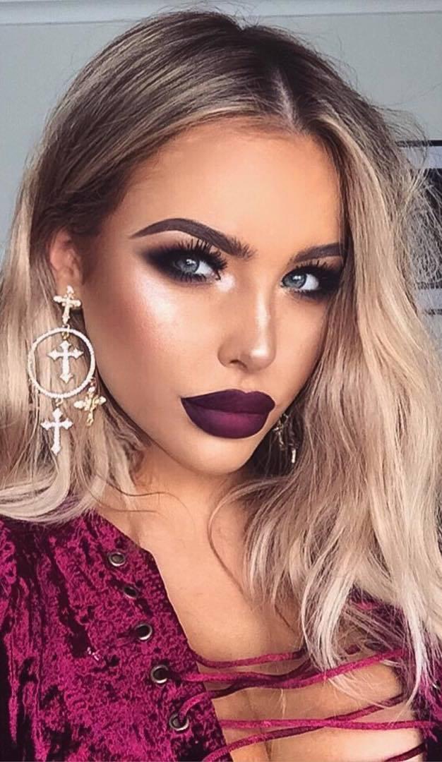 dark make up idea