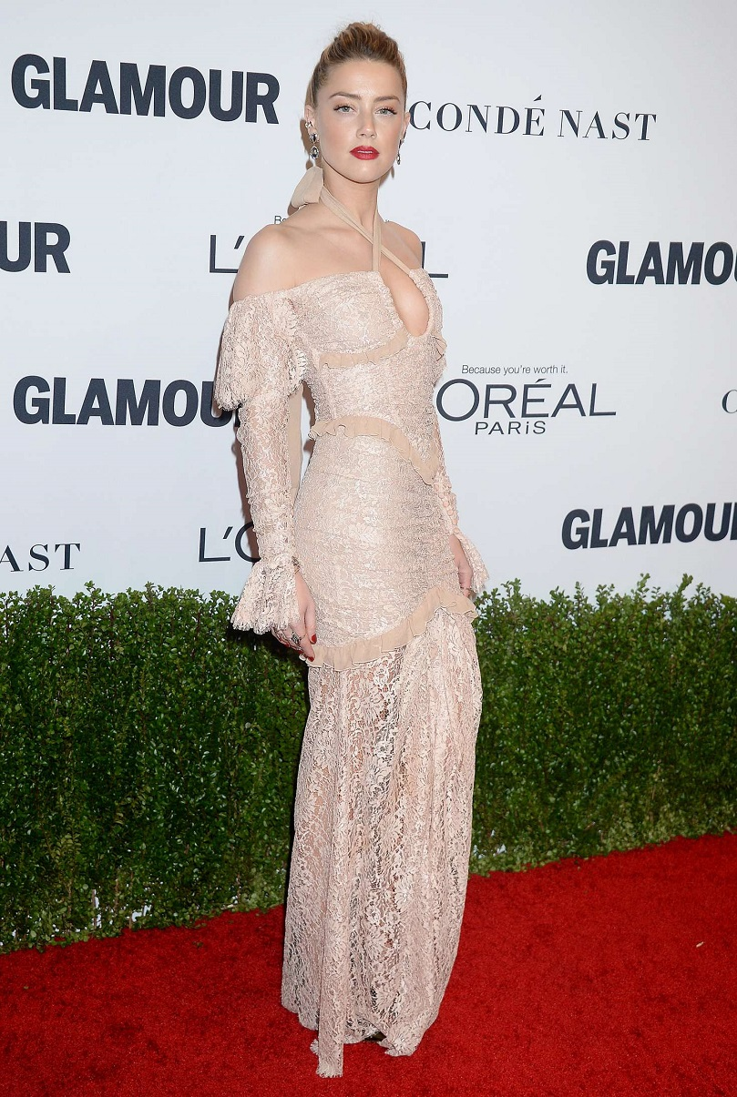 Amber Heard looked stunning as she attended the Glamour Women Of The Year Awards in Hollywood
