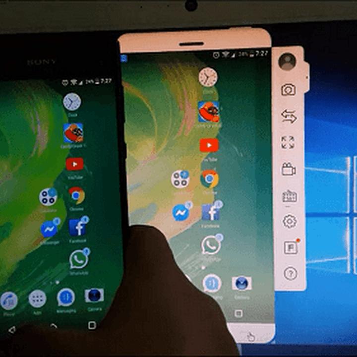 برنامج إظهار شاشة هاتف الاندرويد على الكمبيوتر بالكابل والواي فاي