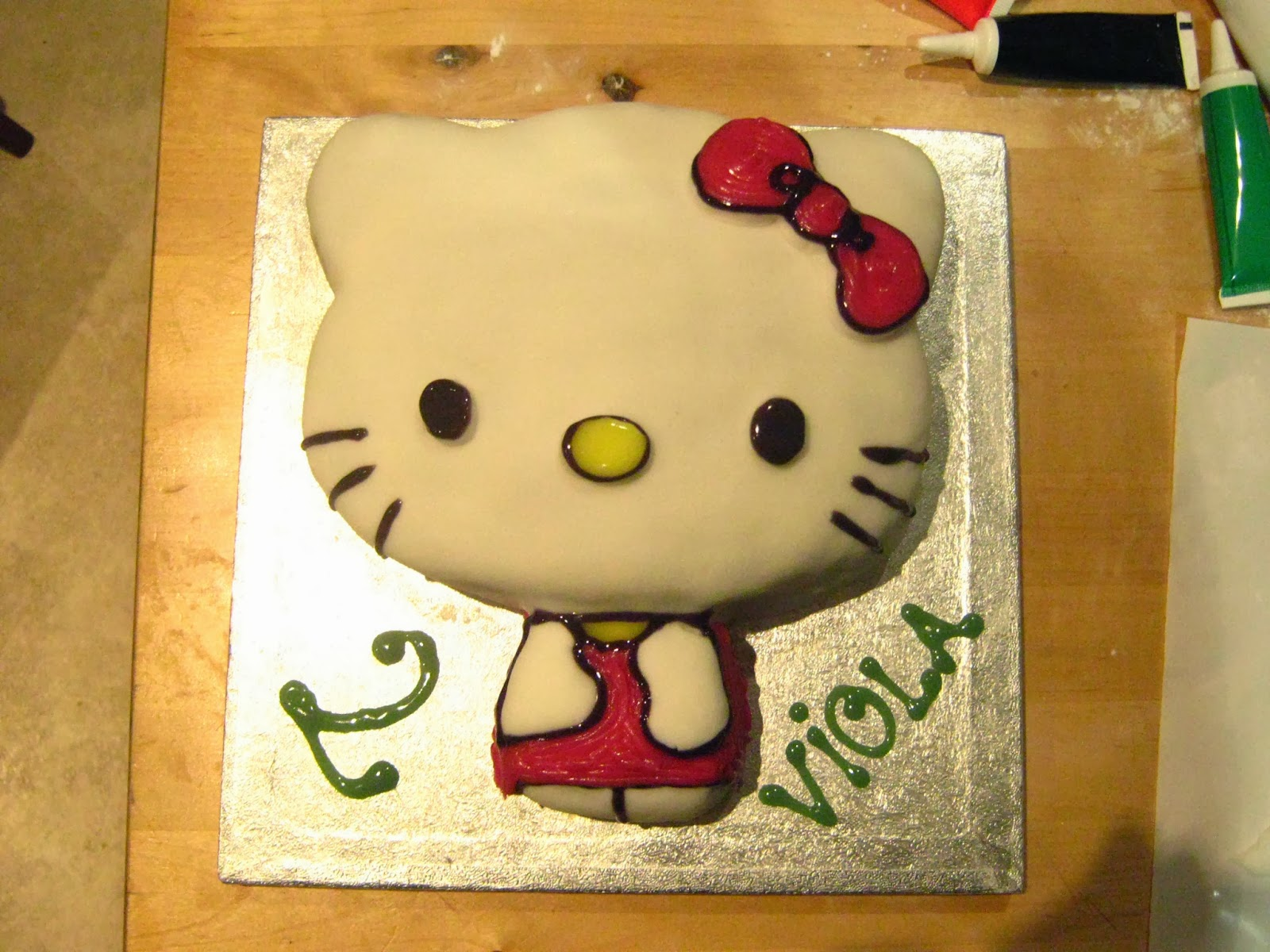 Virtage Gets Crafty Easy Decorated Hello Kitty Cake Tutorial
