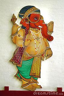 ganpati canvas art hd images & wallpapers