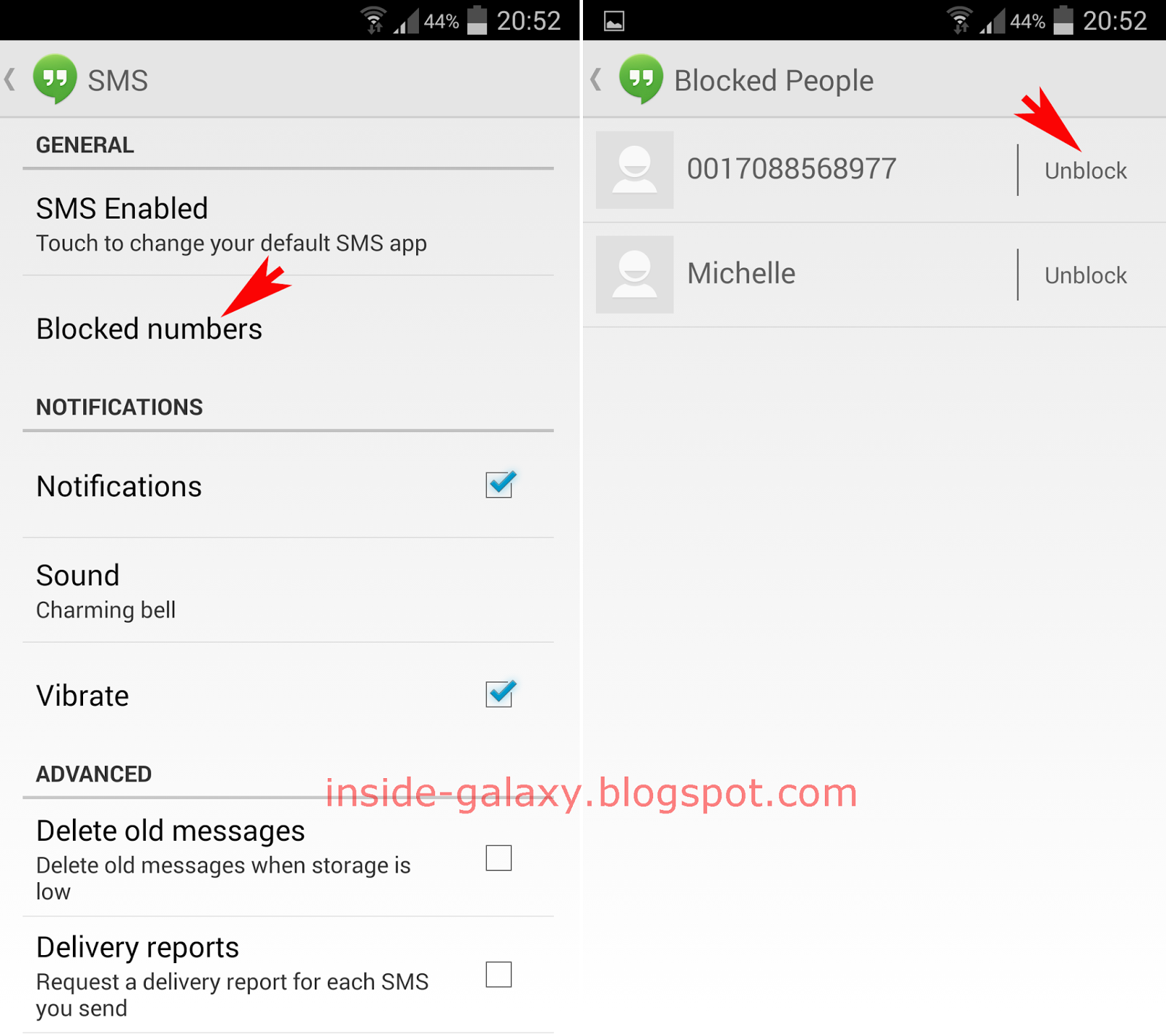 Samsung Galaxy S4: How to Remove a Contact from Blocked Numbers List