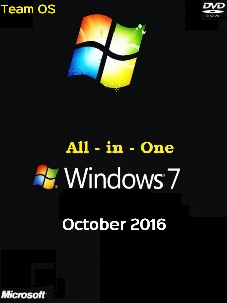 Windows 7 Sp1 AIO (13-in-1) En-US (x86-x64) October 2016