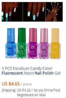 productos manicure fluorescente