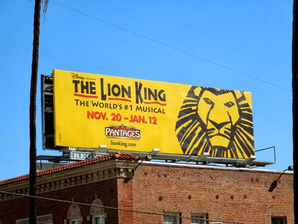 Lion King musical LA billboard