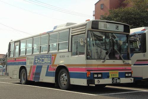中鉄バス 9004 岡山22か3188 U-RU3HJAA