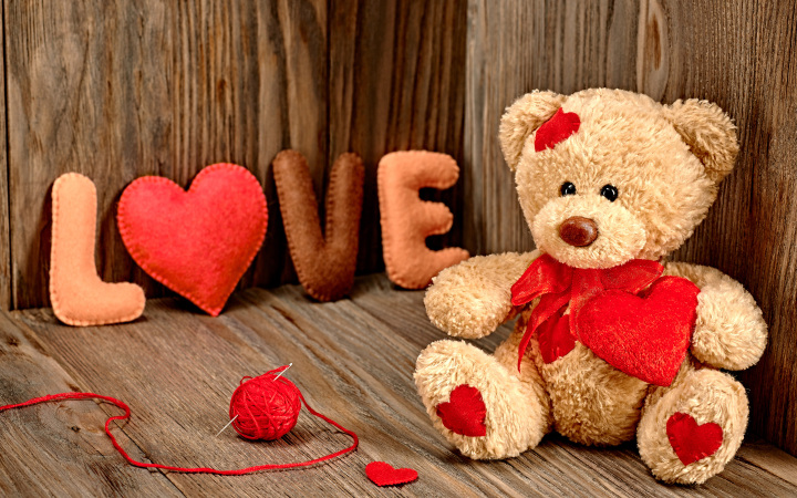 Romantic I Love You Teddy Bear Wallpaper for Lovers & Couples