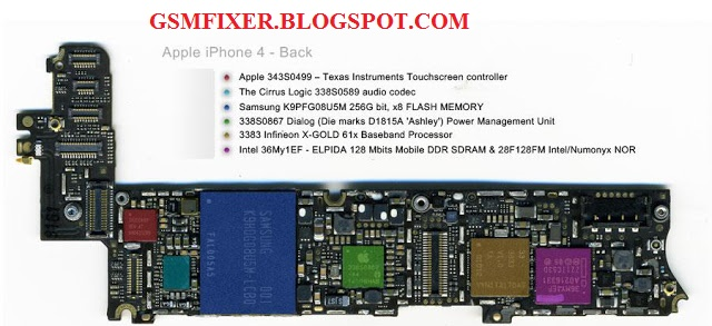 iPhone 4G Schematic Diagram PCB Layout With Details | gsmfixer