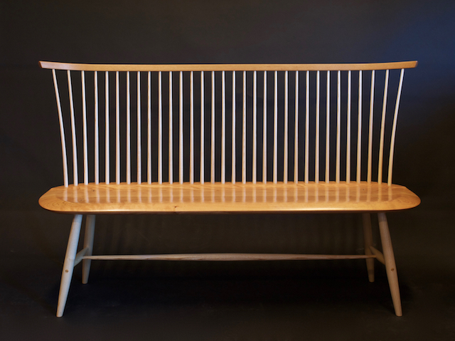 contemporary Windsor bench, settee