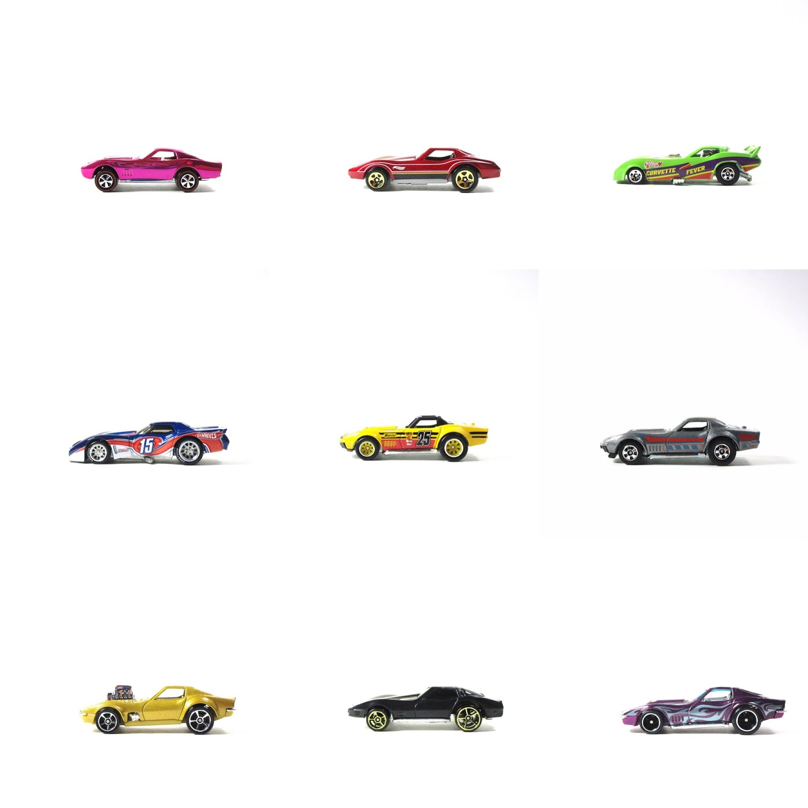 distinguishing 11 different hot wheels 3rd generation corvette castings all about cars. Black Bedroom Furniture Sets. Home Design Ideas