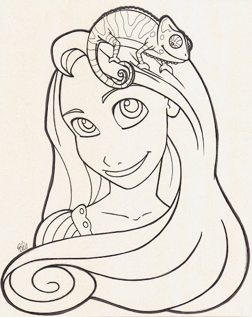 Tangled Coloring Page By Kireikaze