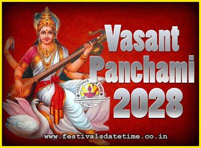 2028 Vasant Panchami Puja Date & Time, 2028 Vasant Panchami Calendar
