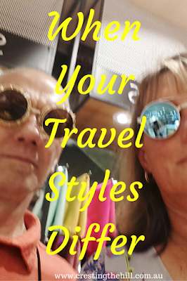 Midlife - when opposites attract and then find out the differences when they travel together!