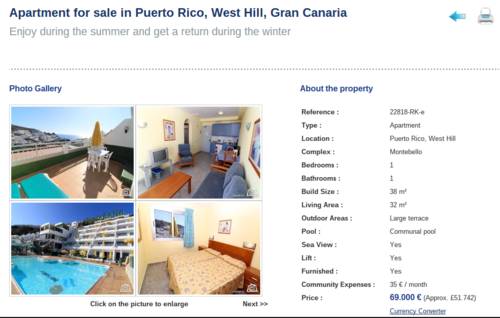 Annunci di case in vendita alle Canarie